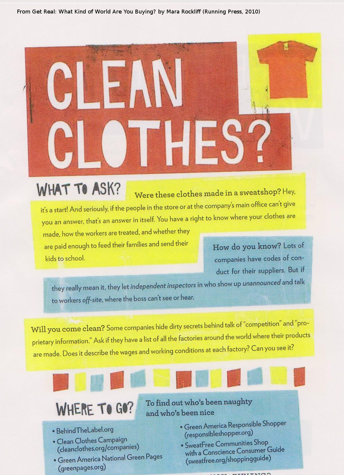 Clean Clothes? What to Ask
